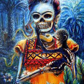 Heather Calderon - Frida in the Moonlight Garden