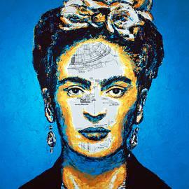 Frida Kahlo Blue by Havi