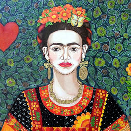Madalena Lobao-Tello - Frida Kahlo Queen of Hearts  closer II