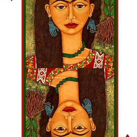 Frida reina de corazones digital by Madalena Lobao-Tello