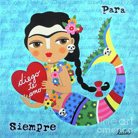 Frida Mermaid with Heart to Diego