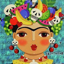 Frida, Skulls and Fruits by LuLu Mypinkturtle