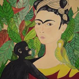 Stephanie Moore - Frida with Monkey and Bird