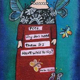 Frida with wings by Claudia Leite