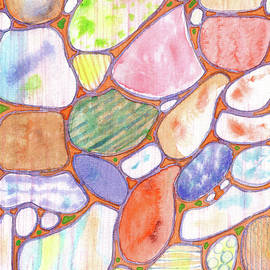 Heidi Capitaine - Friendly Colorful Pebbles Pattern