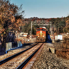 Front Of The Train In Birmingham Alabam by Michael Thomas
