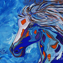 Janice Rae Pariza - Frost Abstract Horse