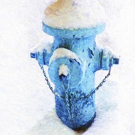 Frozen Blue Fire Hydrant by Andee Design