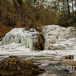 Frozen Falls At Turtletown Creek by Barbara Bowen