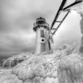 Kevin Oconnell - Frozen St. Joe Lighthouse by Kevin OConnell - KOGalleries.com