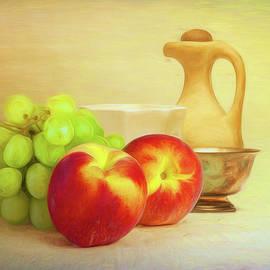 Fruit and Dishware Still Life - Tom Mc Nemar