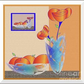 Iris Gelbart - Fruit Bowl with flowers