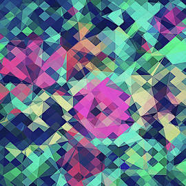 Philipp Rietz - Fruity Rose   Fancy Colorful Abstraction Pattern Design  green pink blue