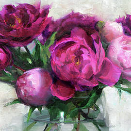 Fuchsia and White - Anna Rose Bain