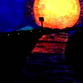 Ishy Christine MudiArt Gallery - Full Moon After A Rainy Day