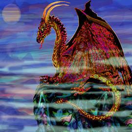 Full Moon Aries Dragon on Crystal Mountain  by Michele Avanti