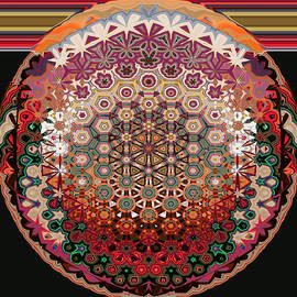 Full  Moon -Mandala by Grace Iradian
