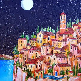 Roberto Gagliardi - Full Moon Over The Village by The Lake