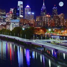 Frozen in Time Fine Art Photography - Full Moon Philly Night