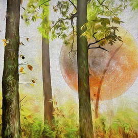 Debra and Dave Vanderlaan - Full Moon Rising Painting