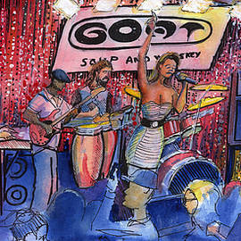 Funky Johnson At The Goat Soup And Whiskey by David Sockrider