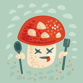 Funny Poisoned Mushroom Character by Boriana Giormova