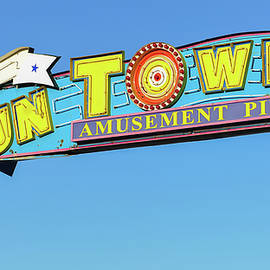 Funtown Pier Sign Seaside Nj by Terry DeLuco