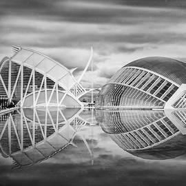 Carol Japp - Futuristic Architecture of Modern Valencia Spain in Black and Wh