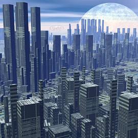 Futuristic city - 3D render by Elenarts - Elena Duvernay Digital Art