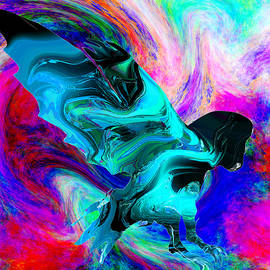 Abstract Angel Artist Stephen K - Galactic Owl