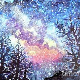 CheyAnne Sexton - Galaxy Spring Night Watercolor