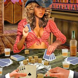 Gamblin' Cowgirl by Glenn Holbrook