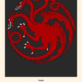 Game Of Thrones Poster House Targaryen Sigil by Florian Rodarte