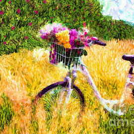 Tina LeCour - Garden Bicycle Print