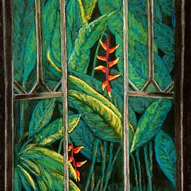 Patricia Beebe - Garden Window In The Moonlight