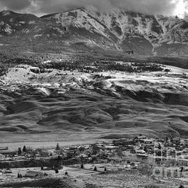 Gardiner Montana Overlook Black And White by Adam Jewell