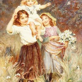 Gathering Flowers - Frederick Morgan