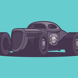 GAZ GL1 Custom Vintage Hot Rod Classic Street Racer Car - Aqua - Ivan Krpan