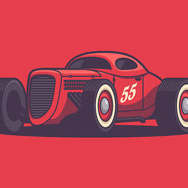 Ivan Krpan - GAZ GL1 Custom Vintage Hot Rod Classic Street Racer Car - Red