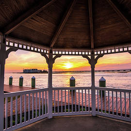 Gazebo And Sunset I by Steven Ainsworth