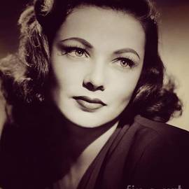 Esoterica Art Agency - Gene Tierney, Vintage Movie Star