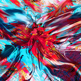 Abstract Angel Artist Stephen K - Genius of the Butterfly