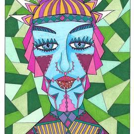 Geometric King by Roberta Dunn