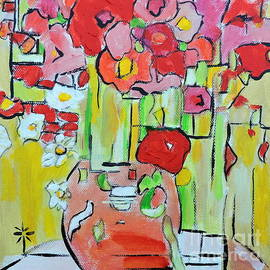 Jodie Marie Anne Richardson Traugott          aka jm-ART - Geometric Poppies
