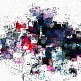 Ayse Deniz - Geometric Skyline / Cityscape Abstract Art