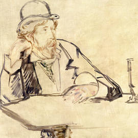 George Moore at the Cafe - Edouard Manet