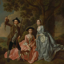 George Rogers and His Wife, Margaret, and His Sister, Margaret Rogers - Francis Hayman
