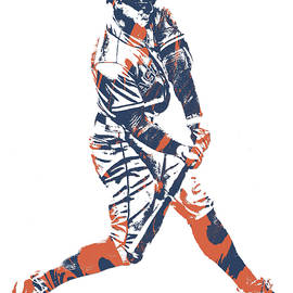 GEORGE SPRINGER HOUSTON ASTROS PIXEL ART 10 - Joe Hamilton