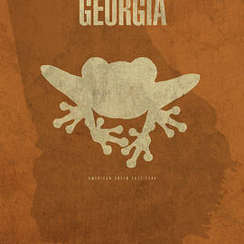Georgia State Facts Minimalist Movie Poster Art - Design Turnpike