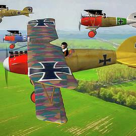 Tommy Anderson - German Albatros D.III flight over France - Oil